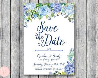 Hydrangea invitation   Etsy