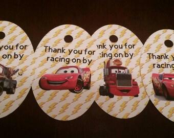 Pixar Cars Thank You Tags!