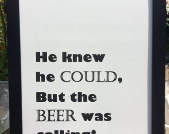 Beer print - gifts for men A4 print