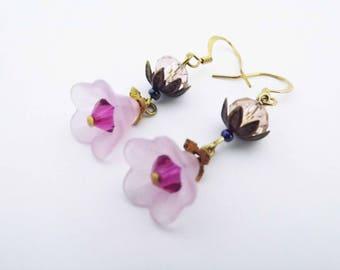 Swarovski Crystal Cherry Blossom Earrings