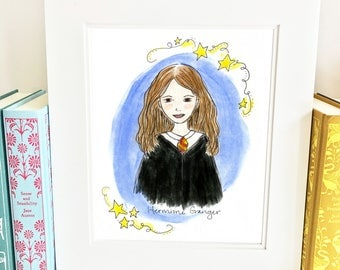 Hermione Granger print - Hermione - Harry Potter Print - illustrated - HH1