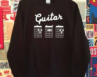 Guitar DAD Chords. Unisex Quality Sweatshirt. Guitarist, Guitar Tabs inspired. Xmas Christmas. Holiday Present or Gift.