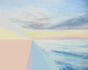 INSTANT DOWNLOAD / Spectrum Seascape /Abstract Landscape Painting / Digital Download