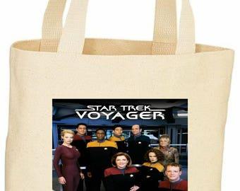 Star Trek Voyager vintage style tote bag