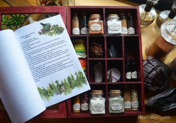 Fully Stocked Organic Diy Face Mask Apothecary Kit With Instructional Book