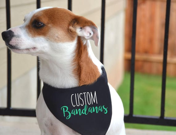 custom dog bandanas