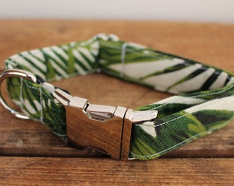 Dog Collar Palm Leaf, Trendy Dog Collar, Tropical Dog Collar, Summer Dog Collar, Palm Leaf, Trendy Collar, Fashion Dog Collar,Summer Design