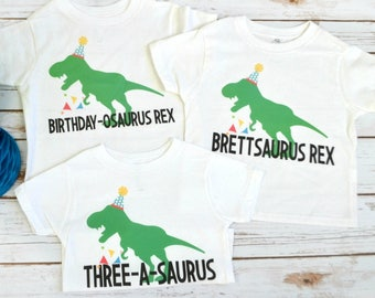 Custom Dinosaur Birthday T-Shirts