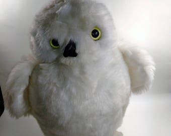 """1989 Cuddle Toy By Douglas/12"""" Owl/Made In U.S.A """"Made With Pride""""-Company Motto/See Picture # 4 ASpot On Bottom (W)"""