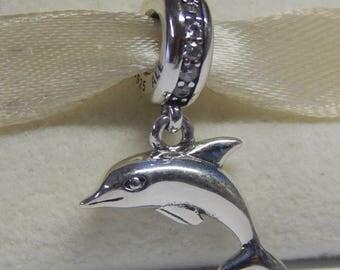 Genuine Pandora Silver Playful Dolphin Charm  Pandora Code 791541CZ