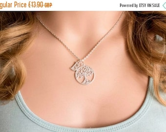 VACATION SALE Silver tree necklace, tree of life necklace, silver tree jewellery, tree necklace, tree jewellery, tree, sisters necklace, SPT