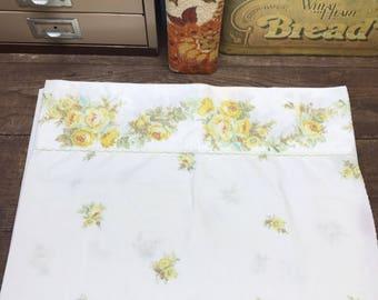 Vintage Pillowcase Floral Percale