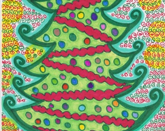 Swirly Curly Christmas Card