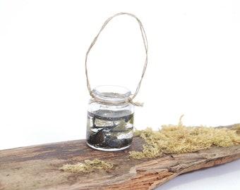 Jar of tadpoles (Large) - 1/12th dollshouse miniature