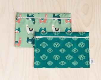 Reusable snack bags // waterproof snack bags // zipped snack bags