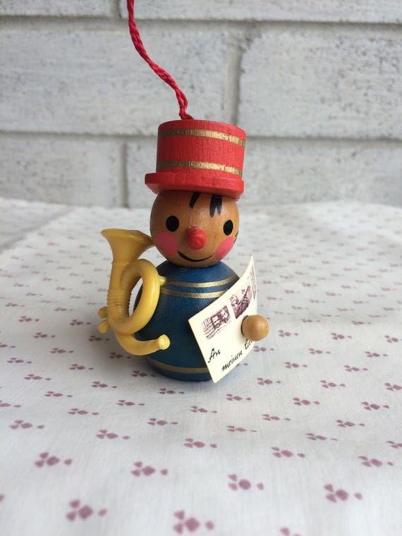 Wooden Steinbach Mailman with Post horn