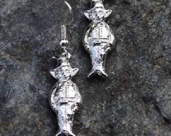Cornish Pisky Pewter Earrings