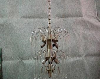 Cascade chandelier Vintage years 70