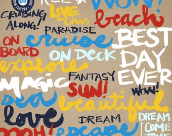 Project Mouse (At Sea): Elements - Perfect for Project Life & Digital Scrapbooking Disney, Cruise, Summer, Beach