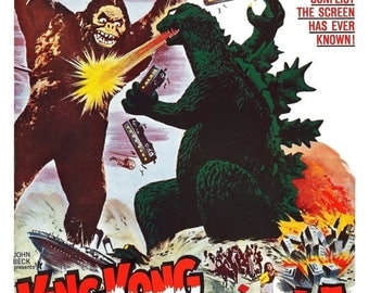 ON SALE NOW: King Kong vs. Godzilla Movie Poster (1962) Action/Adventure