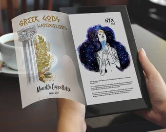 Greek gods watercolors PDF English/Português