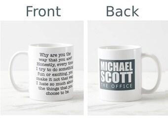The Office tv show mug, Michael Scott quote mug, quote mug, funny mug, coffee mug, mugs, the office gift, michael scott office, office show