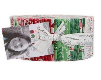 Merry Merry Jelly Roll by Kate Spain for Moda