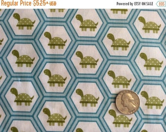 SALE Fine and Dandy Turtles Blue Riley Blake RBD fabric by the yard