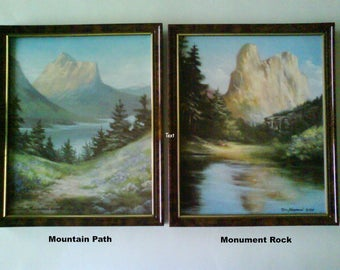 Mountain Path and Monument Rock print