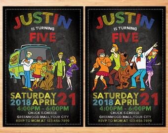 Scooby Doo Invitation, Scooby Doo Birthday, Scooby Doo Invite, Scooby Doo Party, Scooby Doo Printables, Scooby Doo Personalize Invitation
