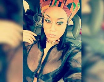 Kente Africa Nefertiti Crown