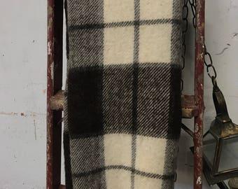Wool Blanket Throw with Fringe Wool Blanket