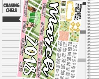 March Monthly Kit #MK17-20 Premium Matte Planner Stickers
