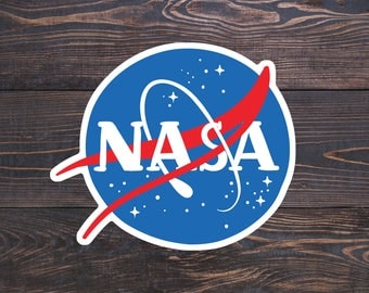 NASA Sticker, Astronaut Decal, Space Stickers, Astronaut Sticker, Nerd Laptop Stickers, Science Car Decal, Astronomy Gifts for Kids, Space X