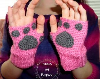 Kitten Mittens - Pink - Kawaii, Cat, Gloves, Winter, Costume