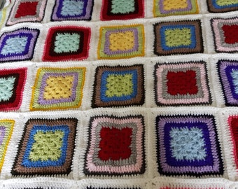 Squares in a square blanket/throw