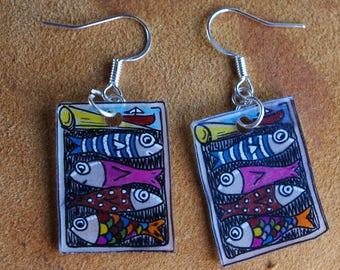 sardine box earrings