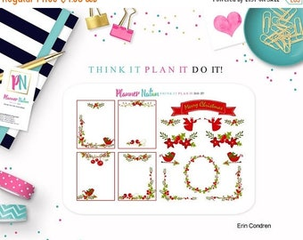 40% OFF Deck the Halls - Mini Kit Planner Stickers -  Designed For Erin Condren Life Planner