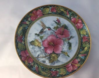 Collector Franklin Mint Plate with Hummingbirds
