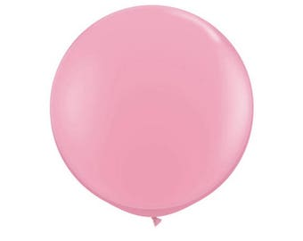"36"" Jumbo latex balloon in light pink.  Large pink balloon.  Soft pink balloon. Baby pink jumbo balloon.  36 inch balloon.  Huge balloon."