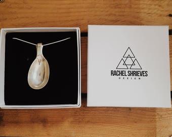 Vintage spoon Necklace, spoon necklace, silver spoon necklace, silver spoon pendant, spoon handle chain,flatware necklace,cutlery necklace,