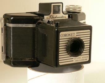 Vintage Coronet Flashmaster - 6x6 120 Film Camera - 1950s - British Made