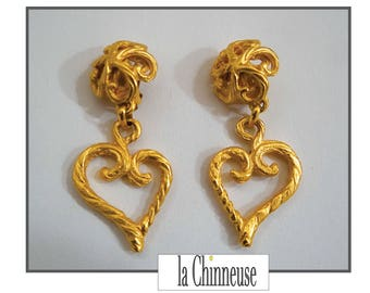 Y S L EARRINGS / Yves Saint LAURENT earrings / Clips YSL / french Vintage Jewel Yves St Laurent.