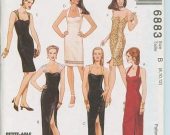 McCall's Pattern Misses Dress in Two Lengths 6883 (size 10, 12, 14)