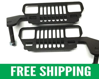 Jeep Foot Pegs for YJ Wrangler (1987 – 1995) | Black Pair