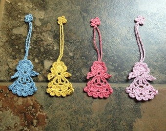 angel bookmark, ornament, charm, craft parts, party goods,home decor, handmade crochet lace , 4for 10