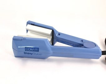 Vintage 80s hair crimper - 1980s, Conair brand, blue, wide crimps, crimping iron - so awesome!