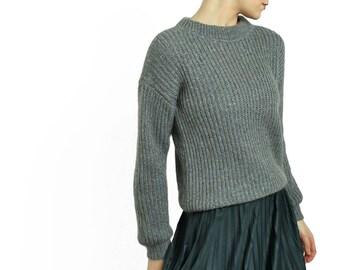 Women woollen sweater hand-knitted 100% wool