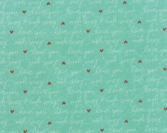 Moda SWEETNESS Quilt Fabric 1/2 Yard By Sandy Gervais - Sky 17852 22