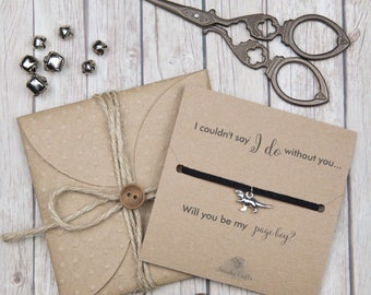 Gifts for him - gifts for boys - page boy gifts - bridal party gifts - custom friendship bracelets - will you be my page boy